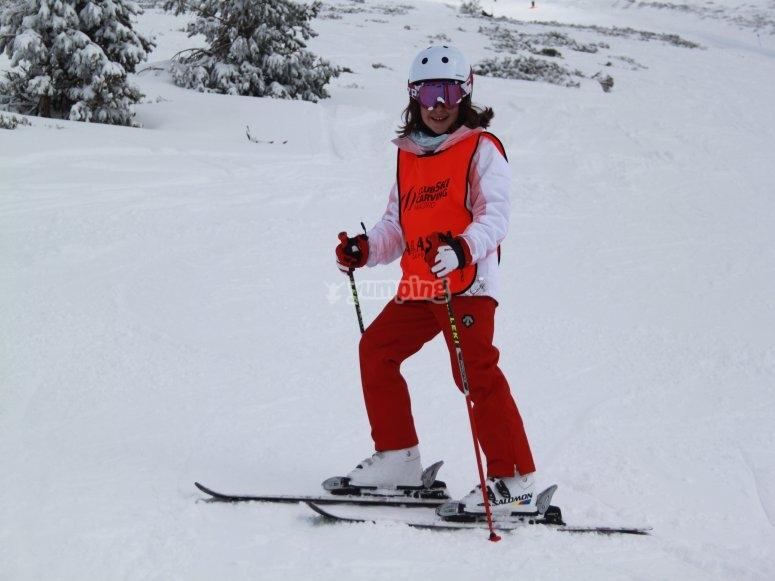 Ski day in the Sierra de Guadarrama