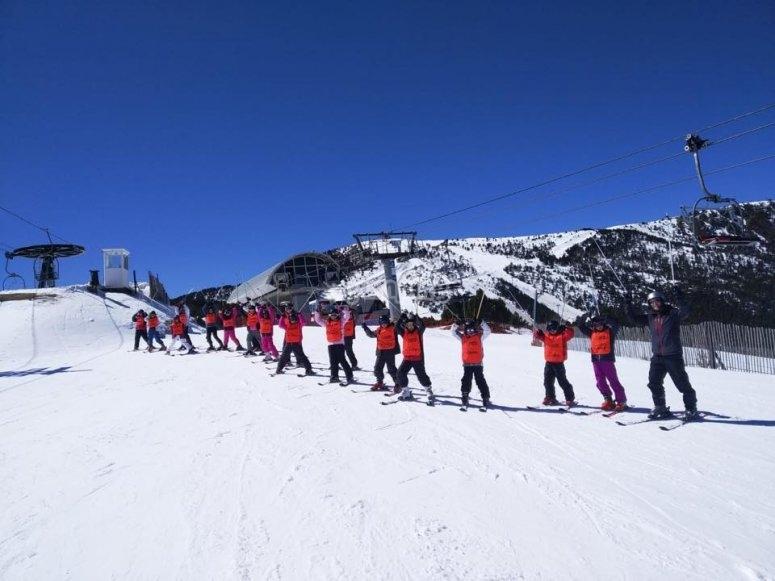 Children's ski course in Valdesquí