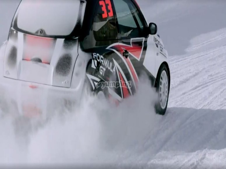 Snow circuit with your Nissan Micra