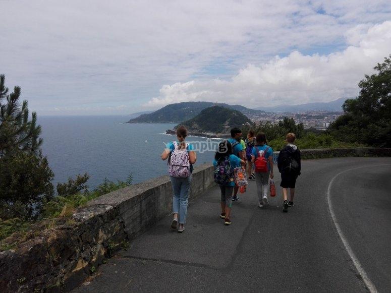 Hiking excursion along the coast