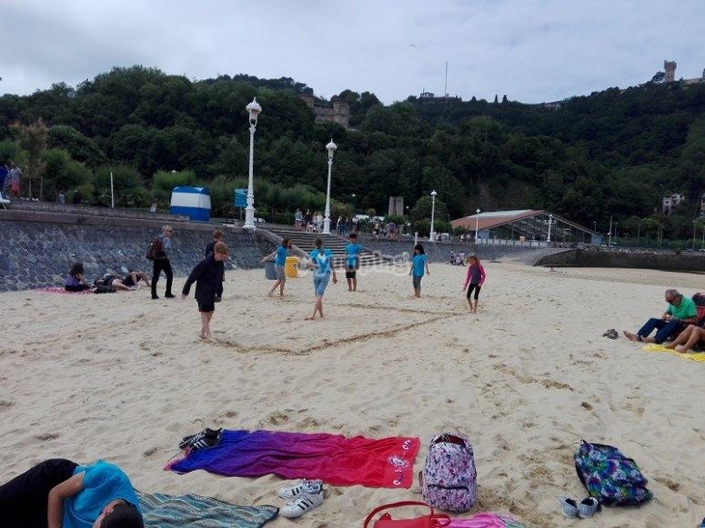 Attività sportive sulla spiaggia