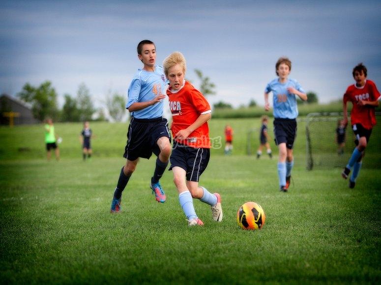 Partite di calcio durante il campo