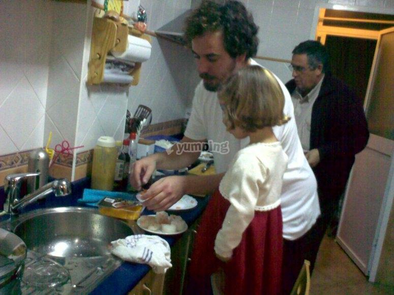 Insegnare tecniche di cucina