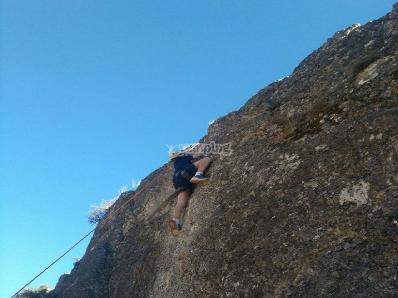 Clase de escalada en Guadalajara
