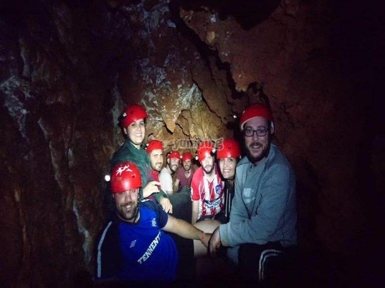 Caving in Cueva del Lutuero