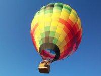 Flying on hot air balloon
