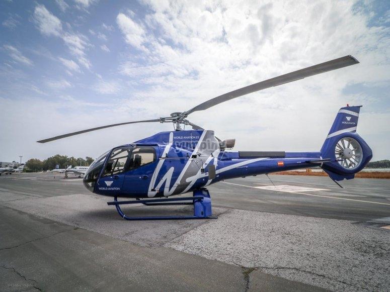 直升飞机要飞到马德里的天空