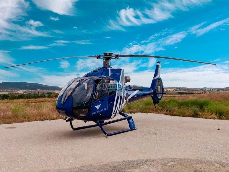 加热涡轮机之前直升机