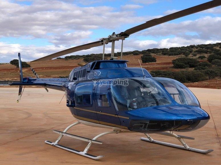Paseo en helicóptero por pantanos de Madrid