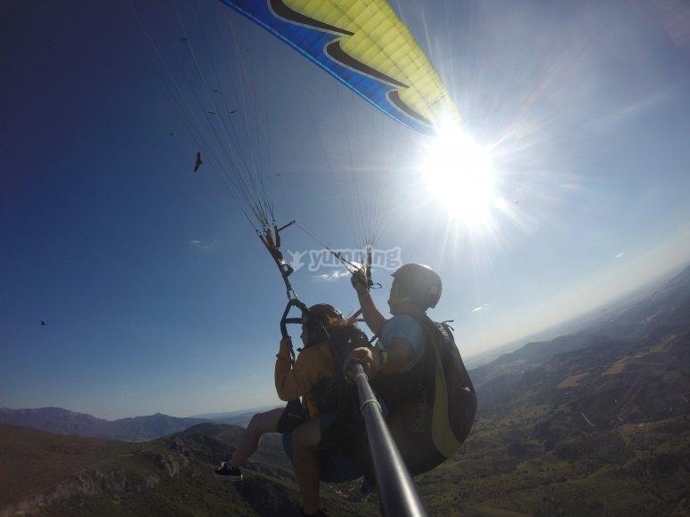Paragliding ride Sierra de Algodonales