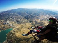 Baptism in paragliding through the skies of El Bosque