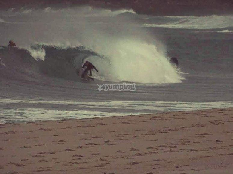 Clase particular de surf Playa de Sabón