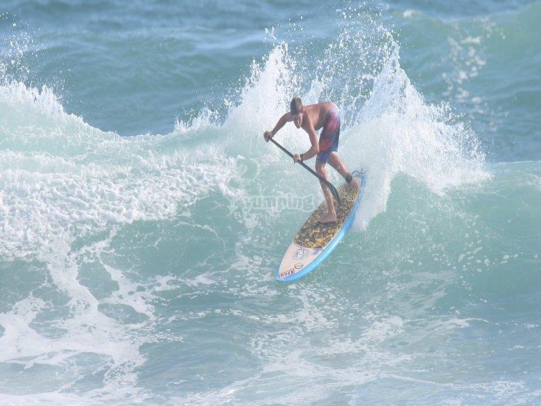 Clases de paddle surf en Playa Sabón