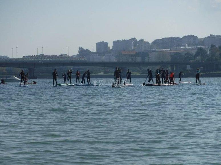 Paddle surf en Arteixo