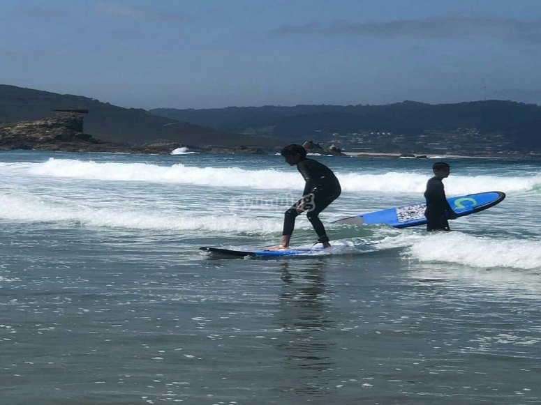 Surfing in Sabón Beach
