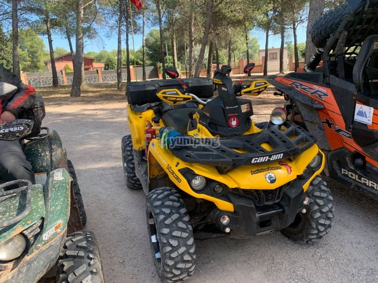 Nuestros quads preparados para la aventura