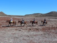 Riding through volcanic landscapes