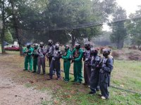 Children's paintball game in Salvaterra de Miño