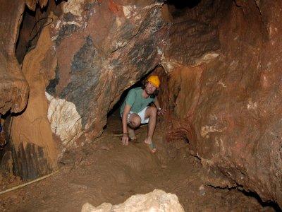 Spelunking route in Cueva del Susto Grazalema