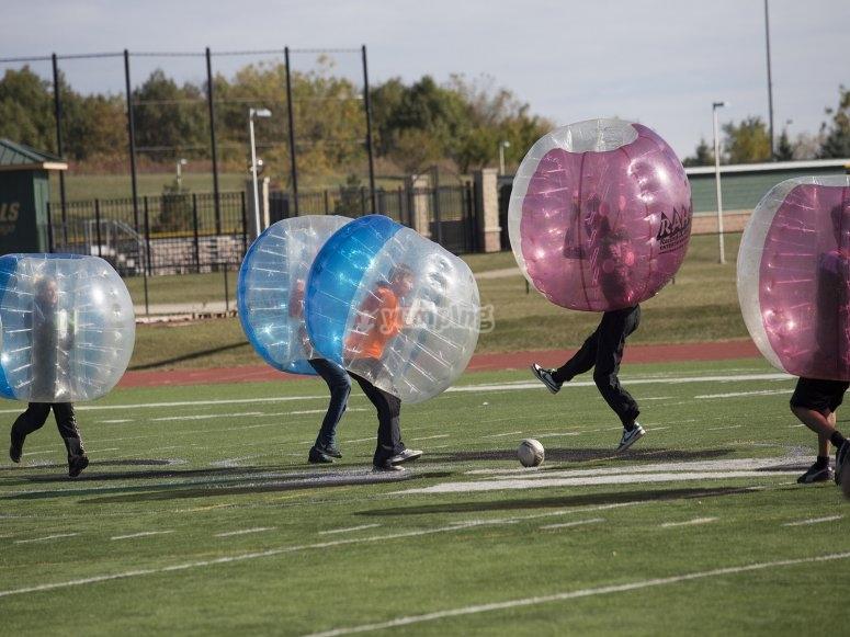 Squadra di calcio a bolle a Moraña