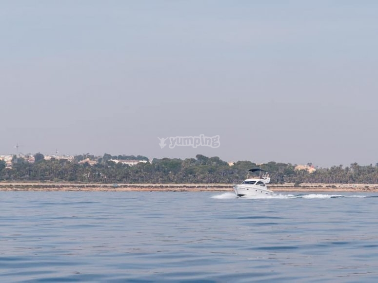 I paesaggi di Torrevieja dalla barca