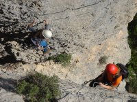 Escalando una ferrata