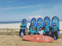 Curso intensivo de surf en Playa Sabón