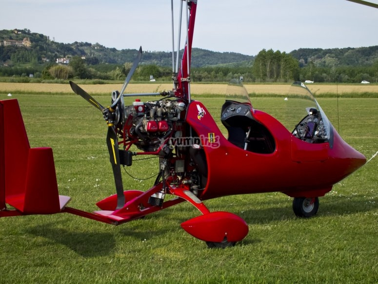 Pilot for a Navalcarnero autogyro day
