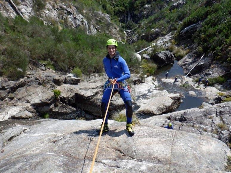 Descending down the canyon of the Verdugo River