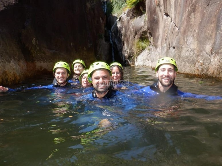 Water pools during the descent