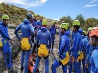 Discesa di iniziazione del canyon del fiume Santa Baia
