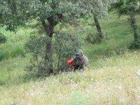 Jugador escondido en el campo de Antequera