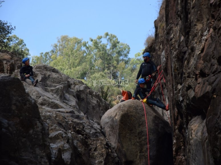 Farewell canyoning in Seville