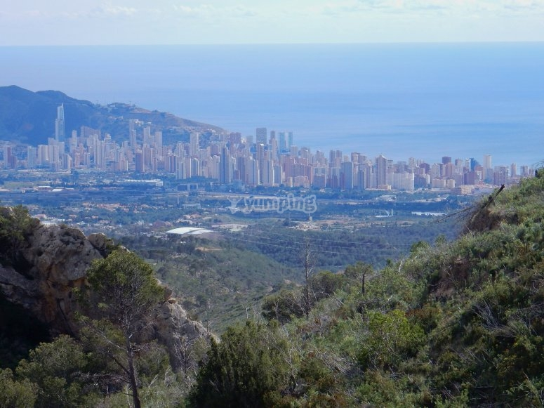 Mountain bike route in Benidorm
