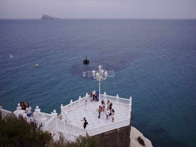 Mediterranean viewpoint in Benidorm