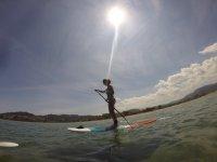 Paddle surf sin olas