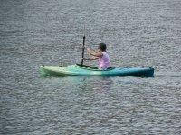 paddling by canoe