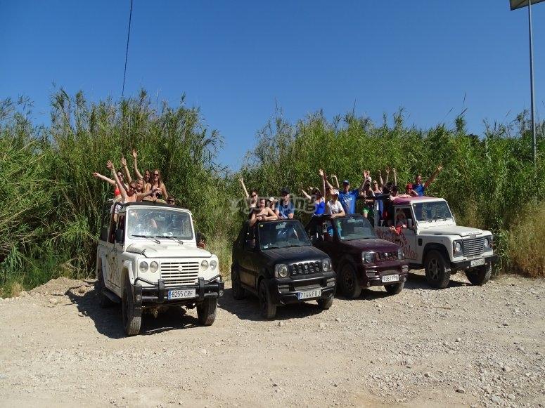 Salida en grupo con jeep