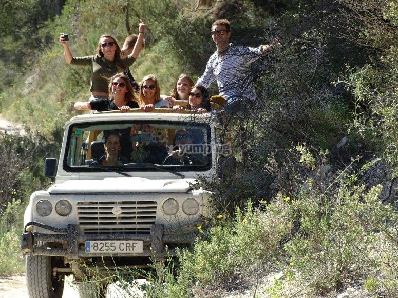 Excursión en todoterreno para familias