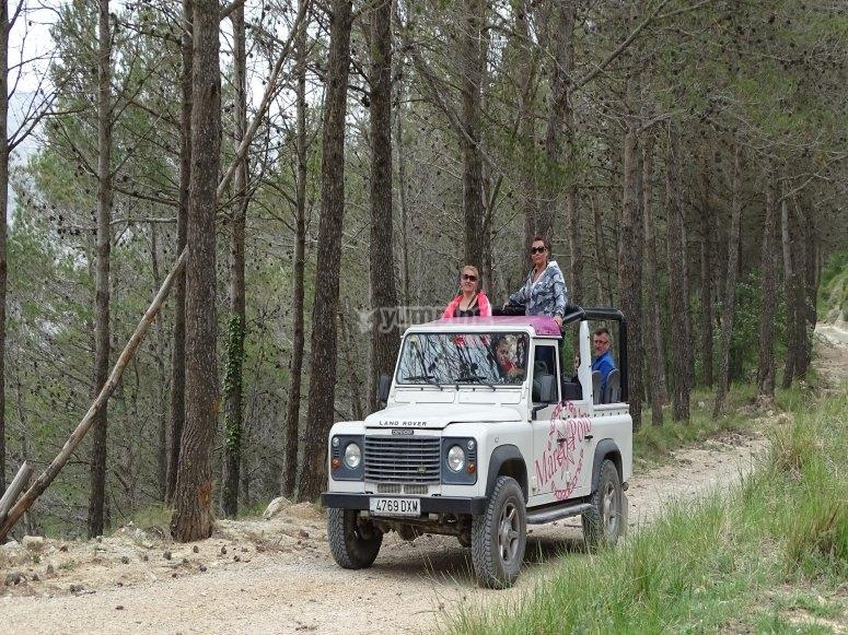 Camino rural en 4x4 Benidorm