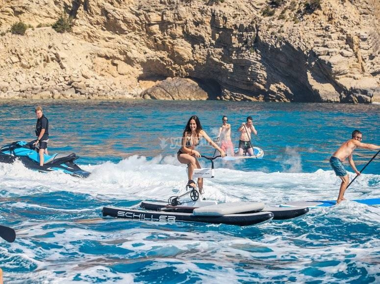 Water bike in Ibiza