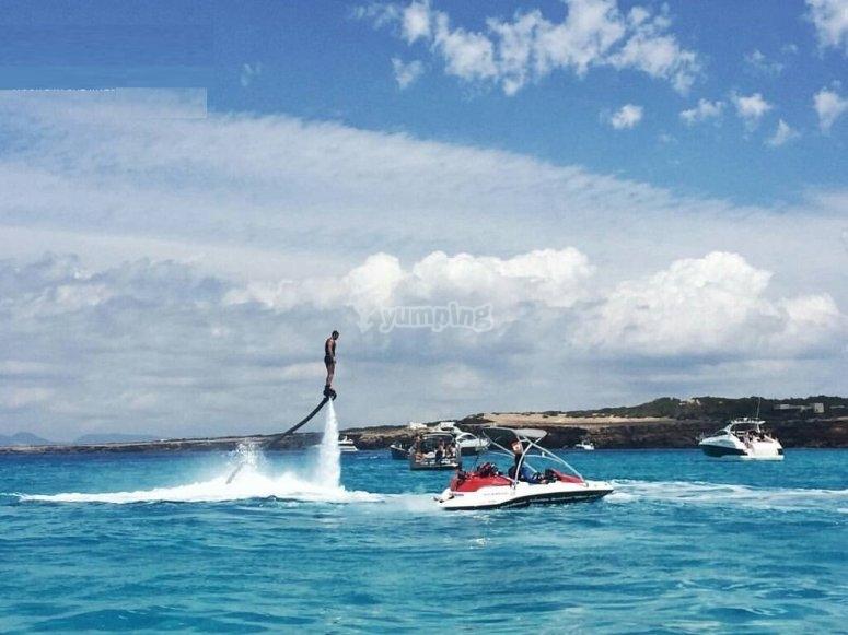 Flyboard a Santa Eulalia