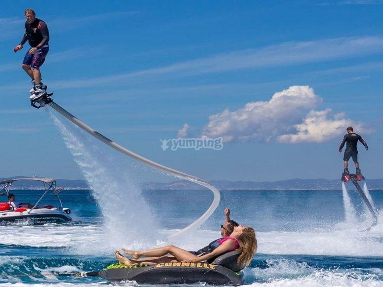 Aventura en flyboard en Ibiza