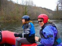 on board the raft