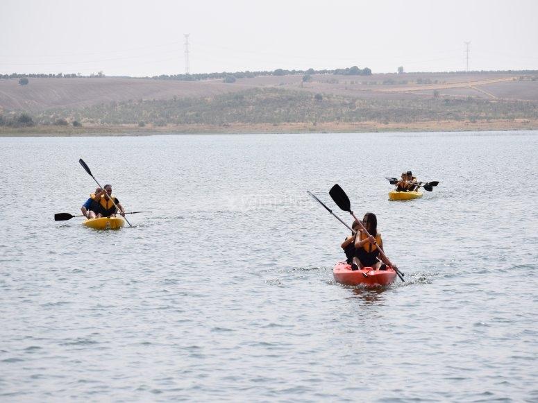 Ruta en kayak por pantano de Llerena