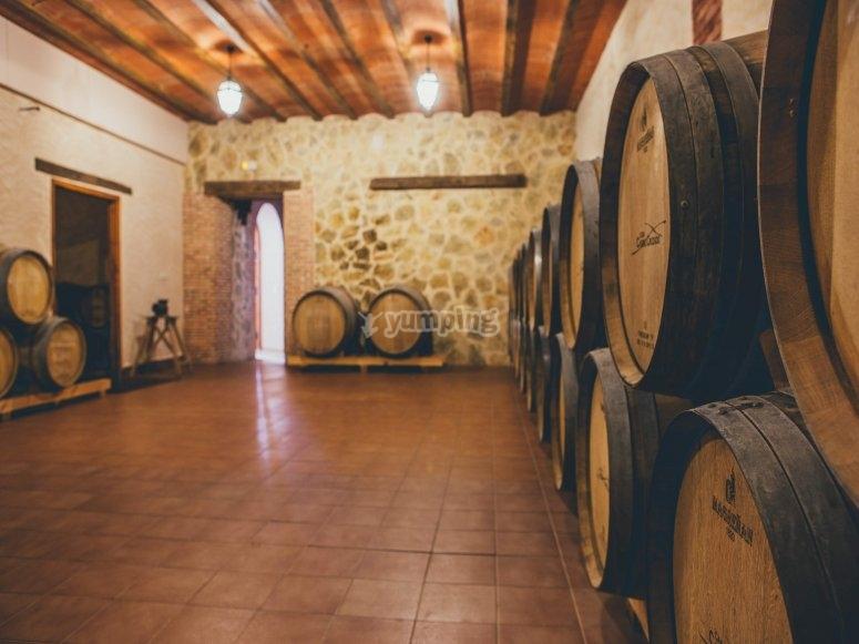 Interior of the winery in Villagarcía del Llano