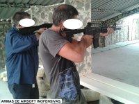 Tiro con airsoft inofensivo armas largas