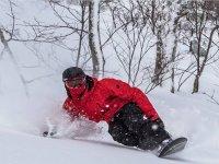阿兰山谷的单板滑雪