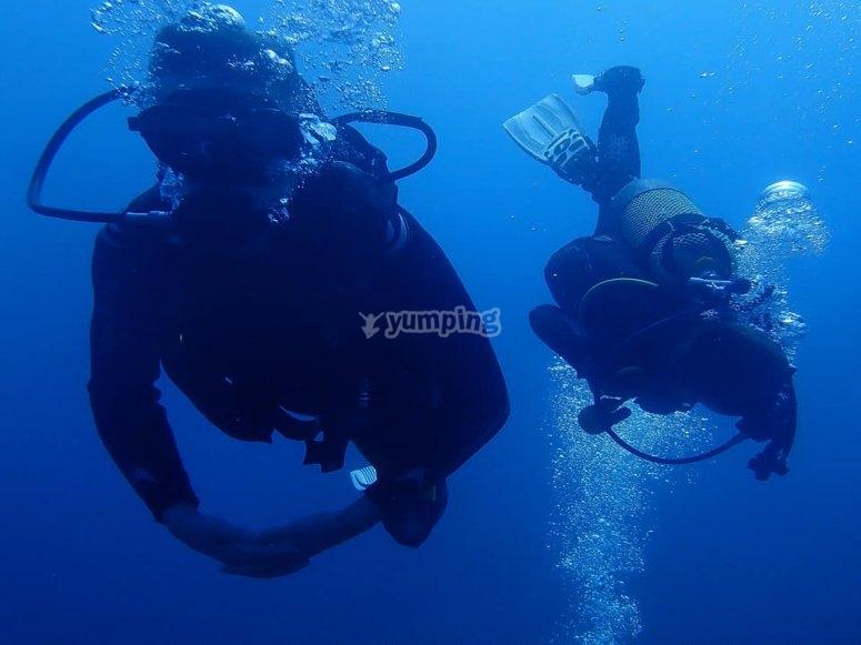 开放水域的潜水者Maspalomas潜水头衔