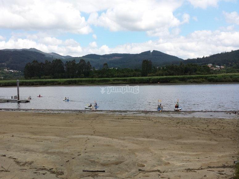 Travesía en kayak desde Catoira